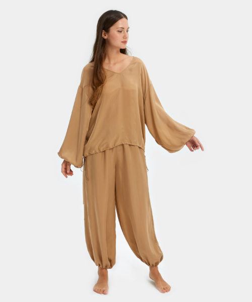 Pajamas For Women | Puff Sleeve Set | Nap - The Luxury Sleepwear