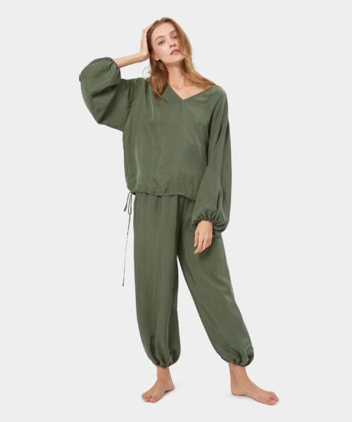 Cool Silk Puff Sleeve Set - Women's Sleepwear Sets | Nap - The Luxury Sleepwear