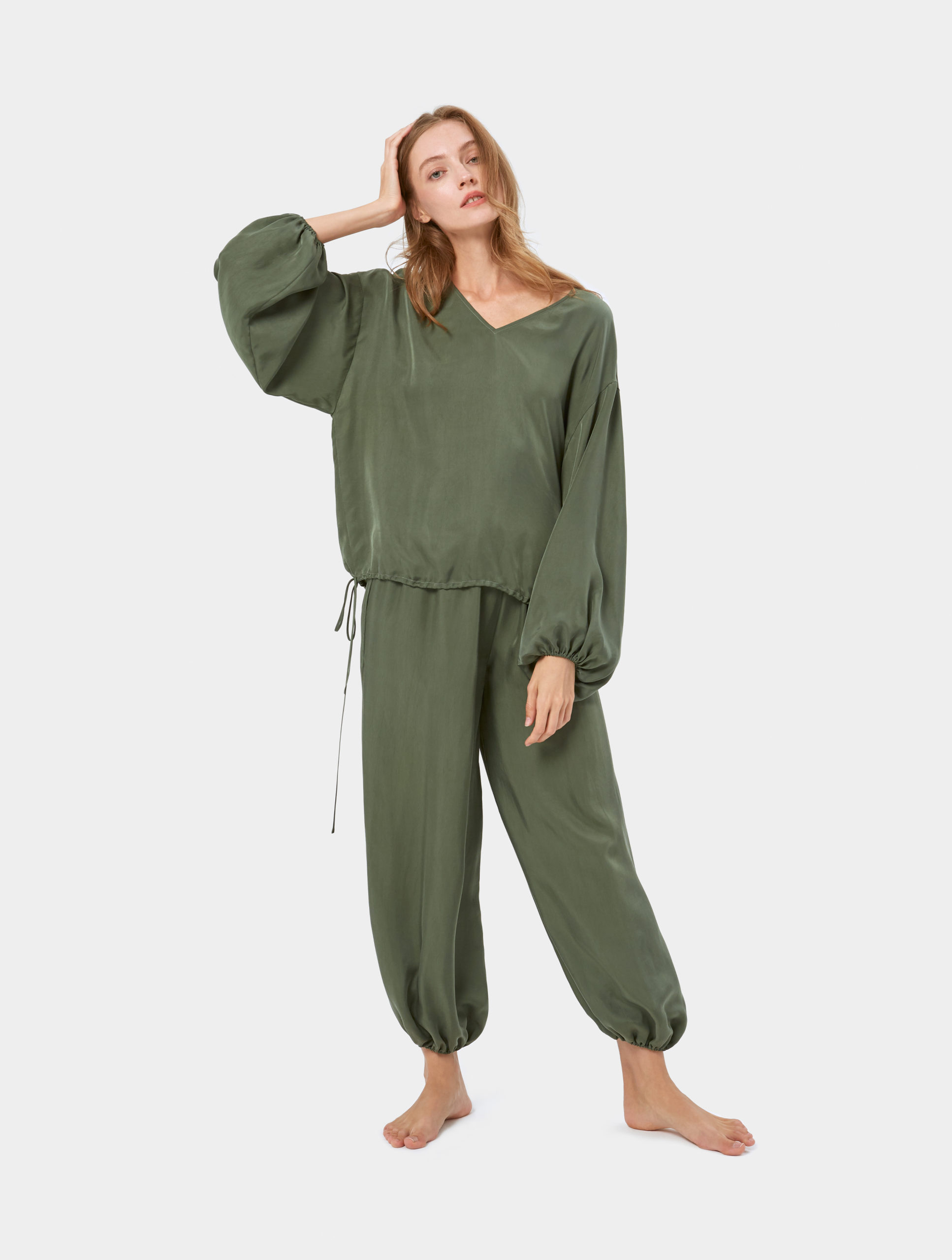 Cool Silk Puff Sleeve Set - Women's Sleepwear Sets | Nap - The Luxury Sleepwear