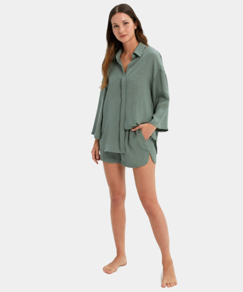 Turn Down Shirt Set - Sleepwear for the Modern Woman