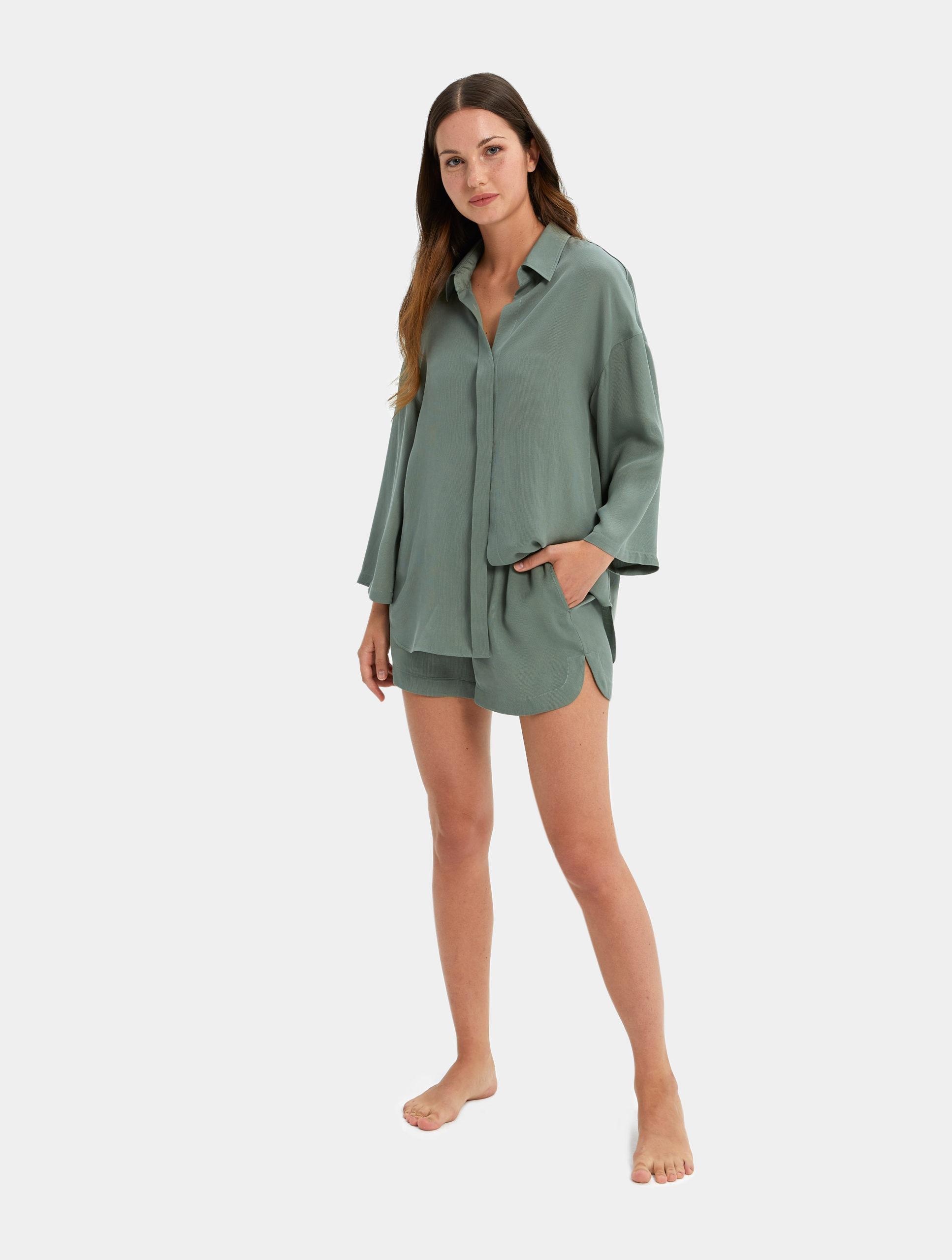 Turn Down Shirt Set - Sleepwear for the Modern Woman