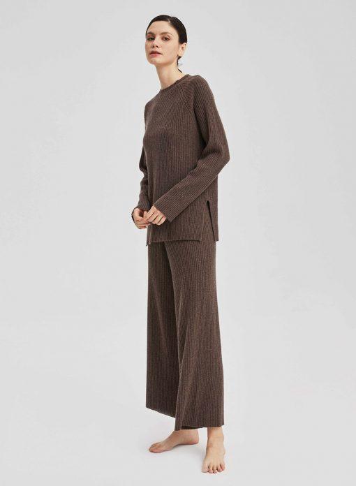 Cashmere Leisure Rib-Knit Set