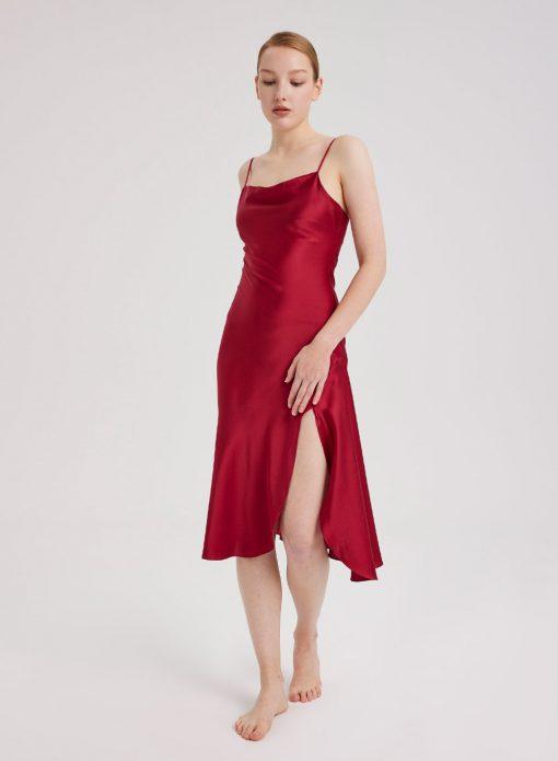 Ruby Satin Dress