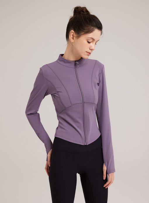 Full Zip Slim Fit Athletic Jacket